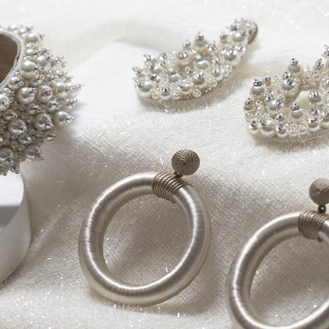 Lori Weitzner Bridal Collection- Clio Earrings, Penelope Bracelet, Chandra Earrings