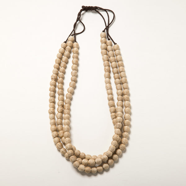 Lori Weitzner Calypso Necklace Wrapped Beading, Adjustable Closure