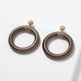 Chandra Hoop Earrings Umber Lori Weitzner Jewelry Accessories