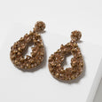 Lori Weitzner Beaded Clio Earrings in Honey