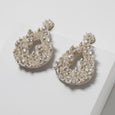 Lori Weitzner Beaded Clio Earrings for Bridal in Pearl