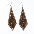 Lori Weitzner Padma embroidered drop earrings in copper