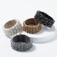 Lori Weitzner Penelope bracelet with beading, suede backing, magnetic closure