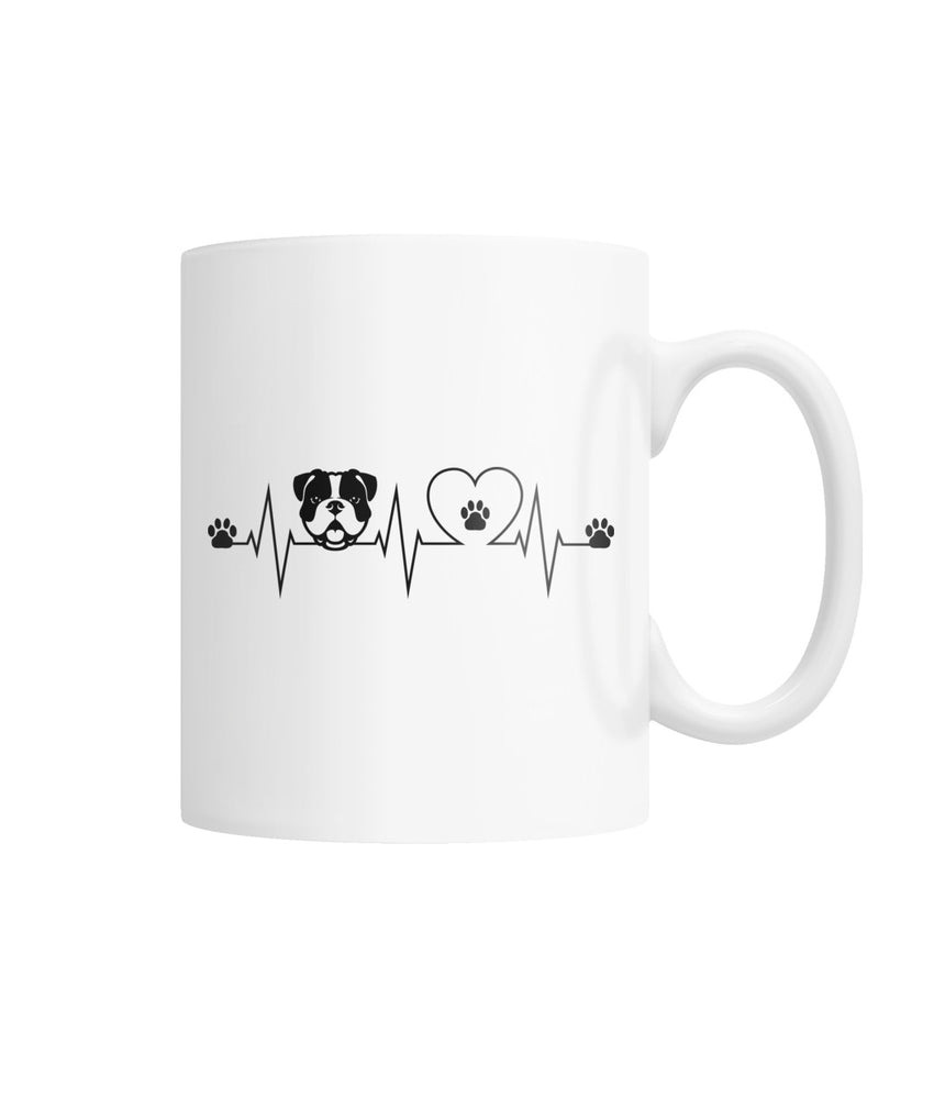 Heartbeat White Coffee Mug