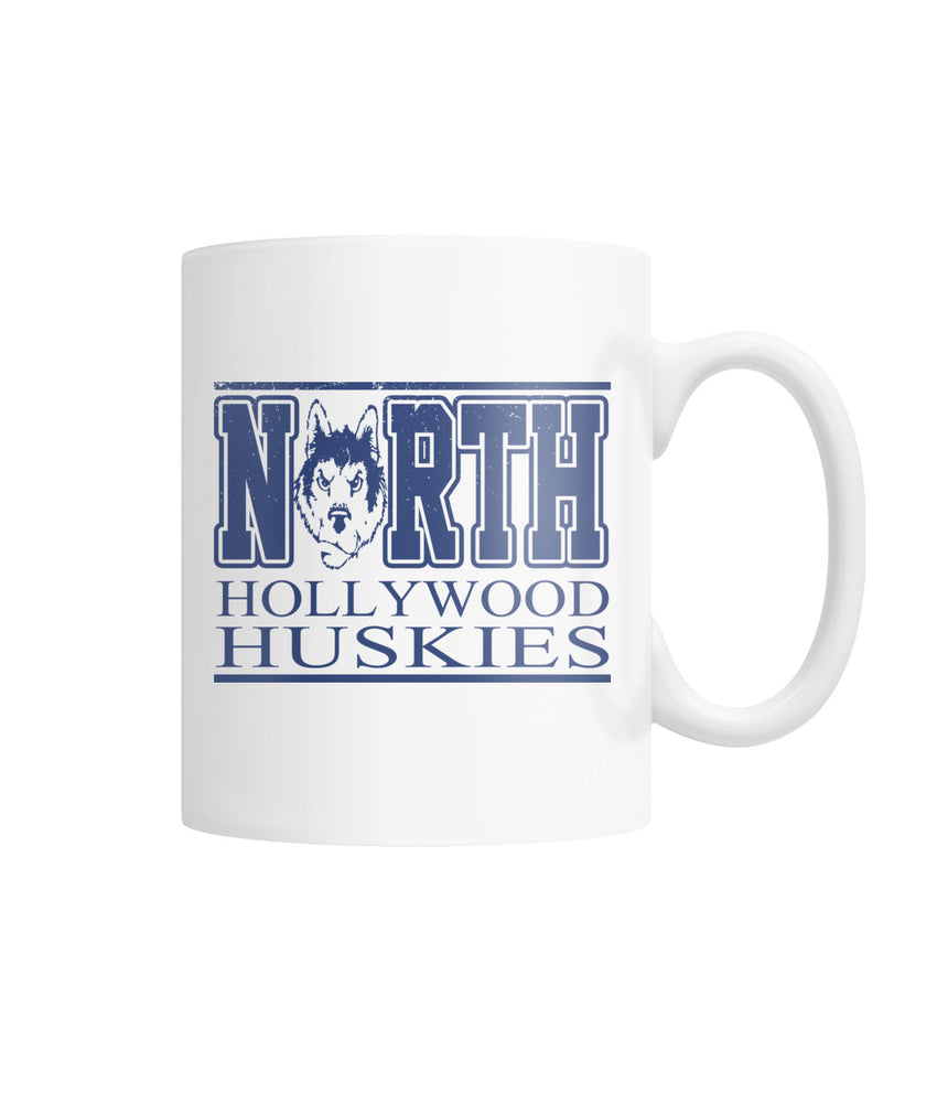 Hollywood Huskies White Coffee Mug