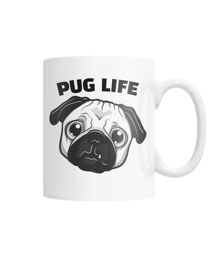 Pug Life White Coffee Mug