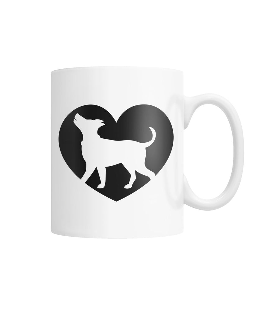 I Heart Dogs White Coffee Mug