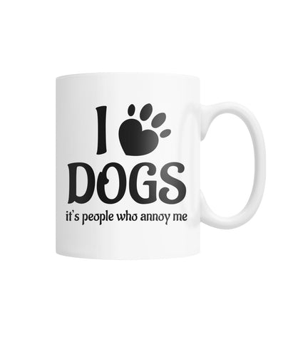 People Annoy Me White Coffee Mug