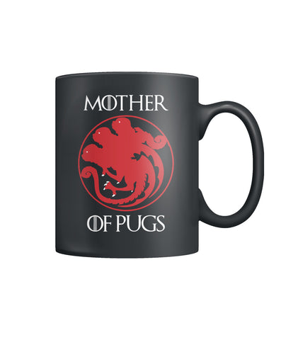Mother Pugs Color Coffee Mug