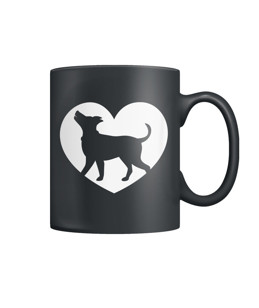 I Heart Dogs Color Coffee Mug