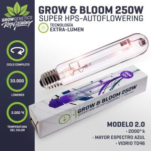 Ampolleta Grow & Bloom 250 W