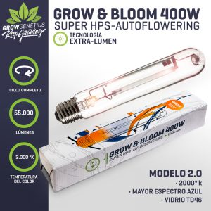 Ampolleta Grow & Bloom 400 W