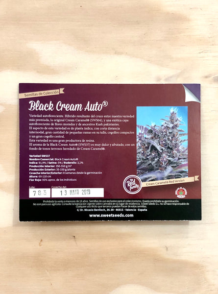 Black Cream Auto Red Family 3+1 - De La Buena Growshop