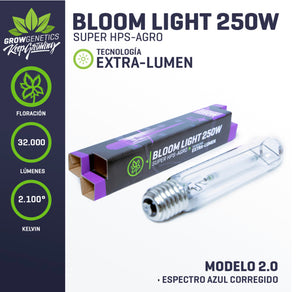 Ampolleta Sodio (Bloom) 250 W Extra Lumen