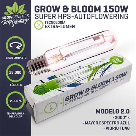 Ampolleta Grow & Bloom 150 W