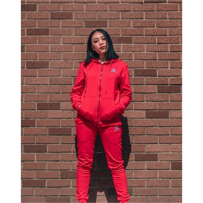 Crimson Red Tracksuit Bottoms Female - odmoss