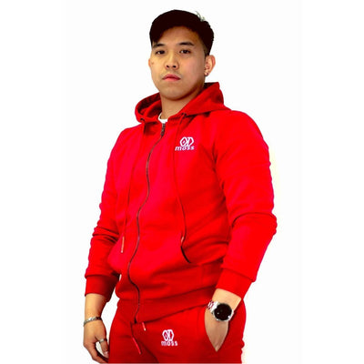 Crimson Red Tracksuit Hoodie - odmoss