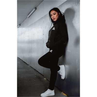 Midnight Black Tracksuit Bottoms Female - odmoss