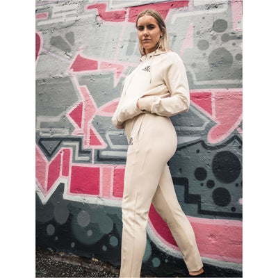 Pearl White Tracksuit Bottoms Female - odmoss