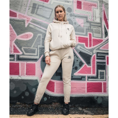 Pearl White Tracksuit Hoodie Female - odmoss