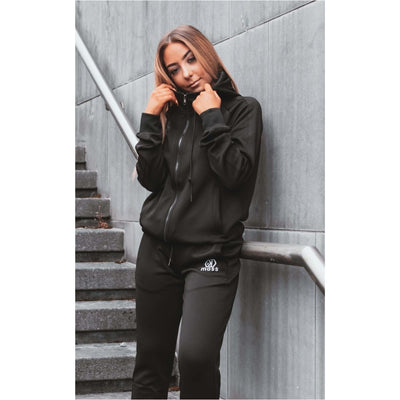 Raven Black Tracksuit Bottoms Female - odmoss