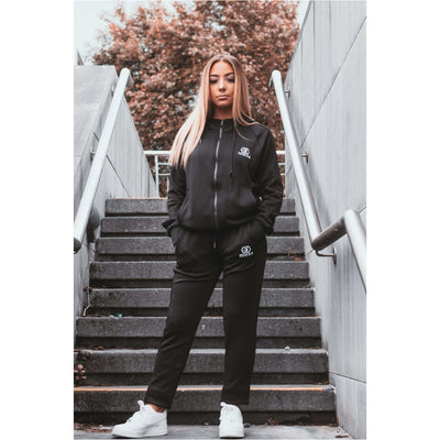 Raven Black Tracksuit Hoodie Female - odmoss