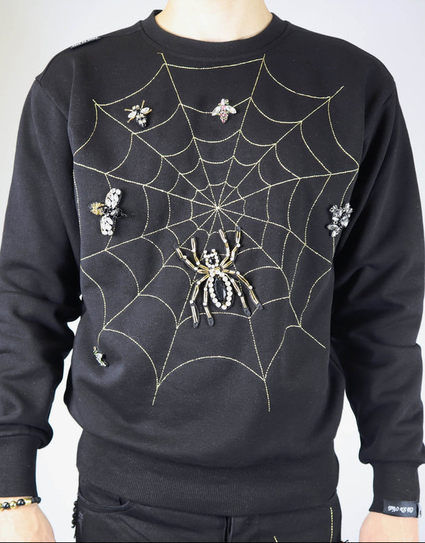 Côte de Nuits crystal web sweat shirts