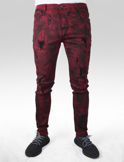 CDN - Burgundy Wine Rinse Jean Slim Fit