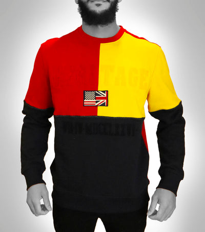 Tri-Color Fleece Sweatshirt