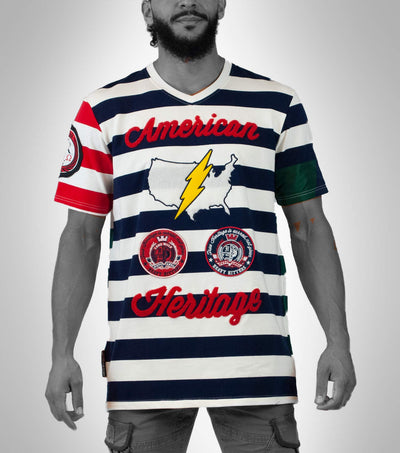 US Bolt Stripe Tee