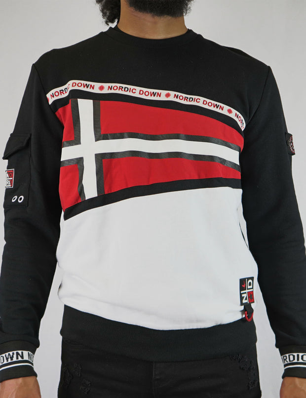 Nordic Down Nordic cross Flag Sweat shirt