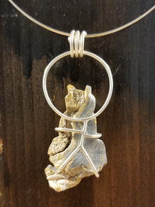 Citrine Cat and the Moon Pendant