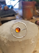 Load image into Gallery viewer, Carnelian Floating Circle Ring