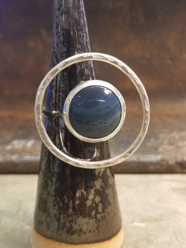 Leland Blue Floating Circle Ring