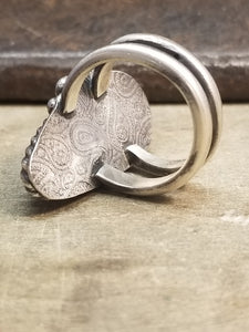Stunning Rosarita and Sterling Silver Ring
