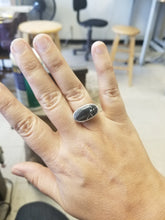Load image into Gallery viewer, Iron Buffalo and Sterling Silver Ring