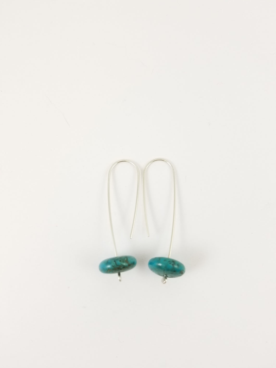 Hubei Turquoise large drop earrings