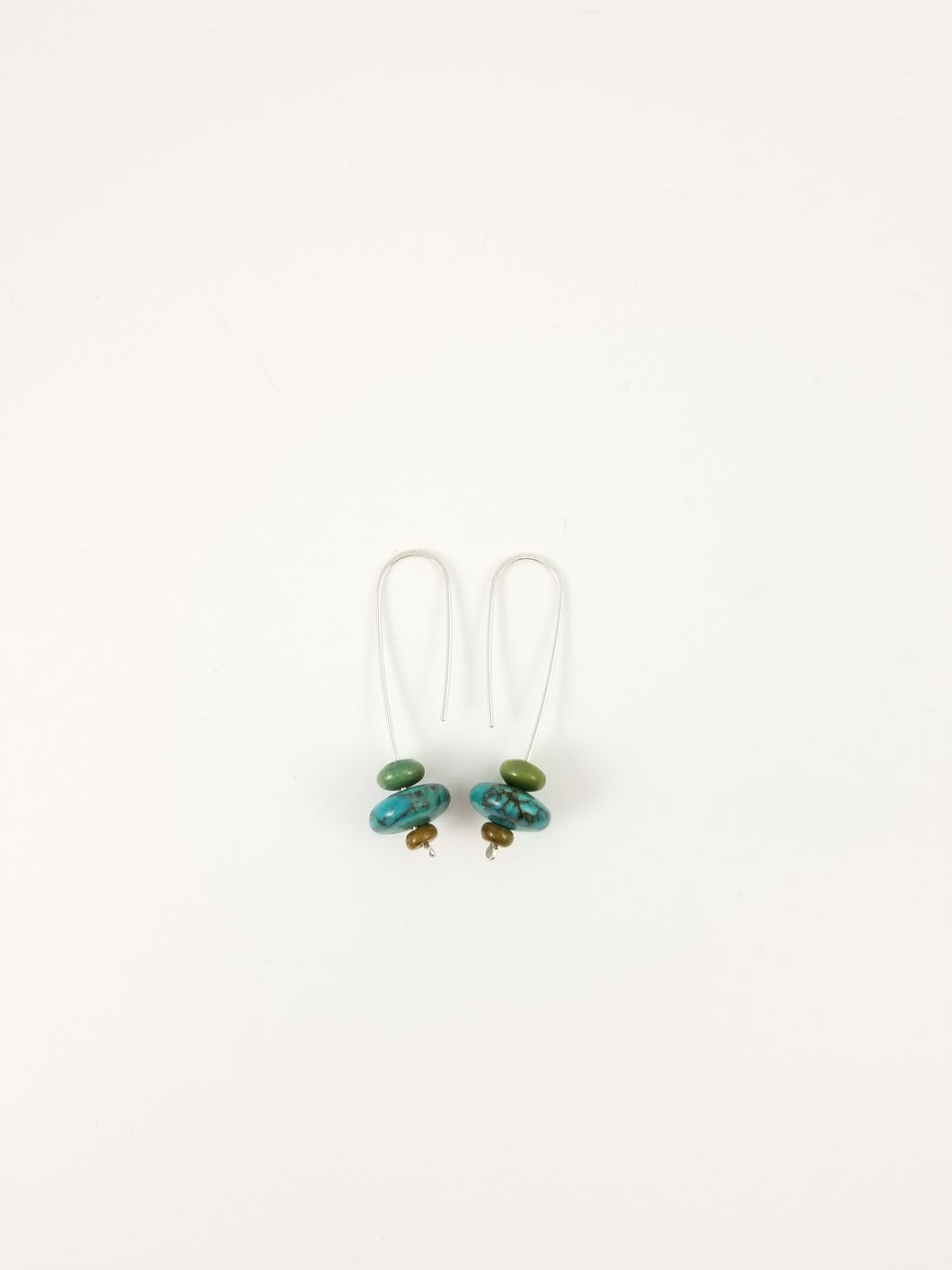 Hubei Turquoise triple drop earrings