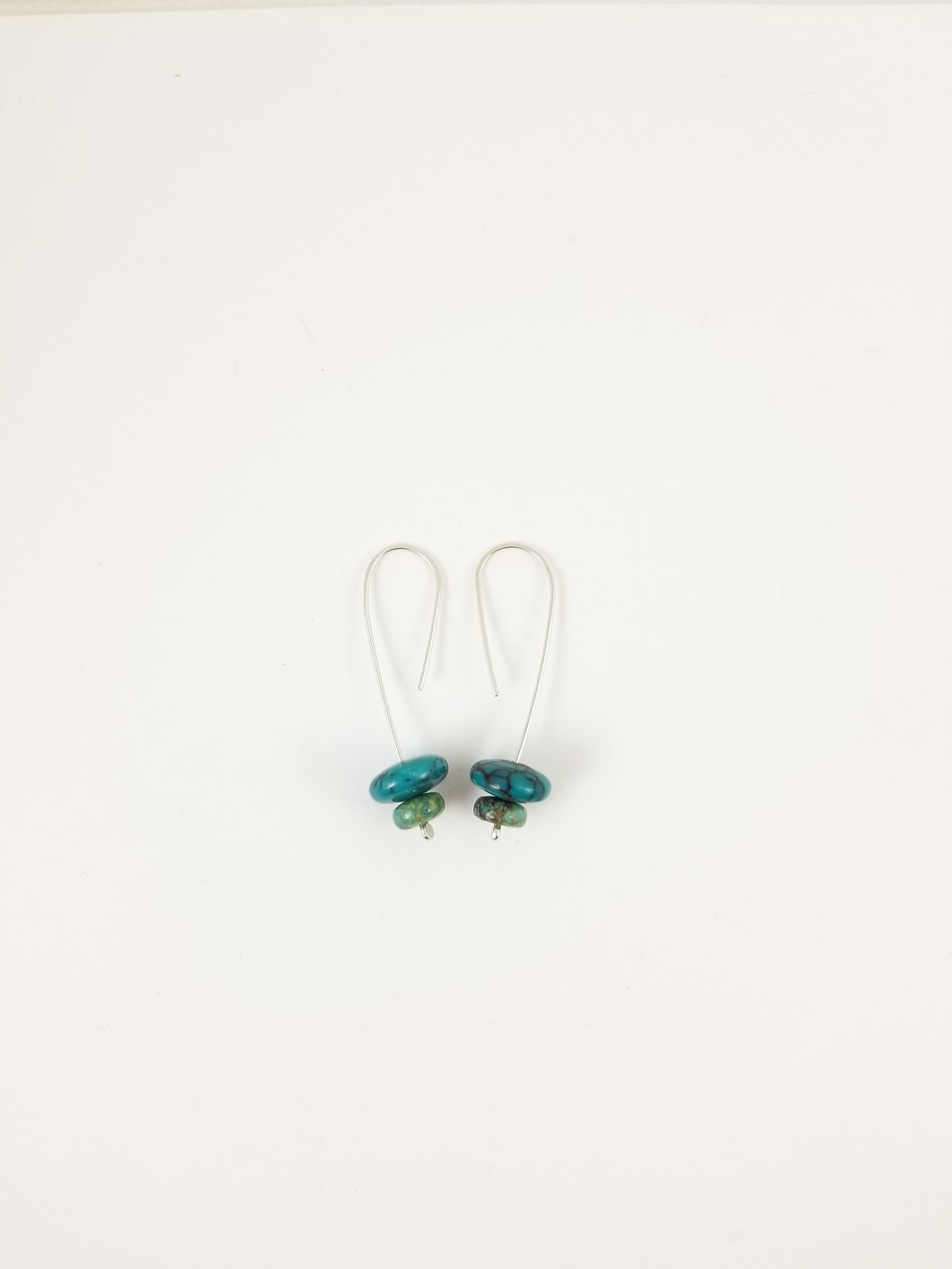 Hubei Turquoise large double drop earrings