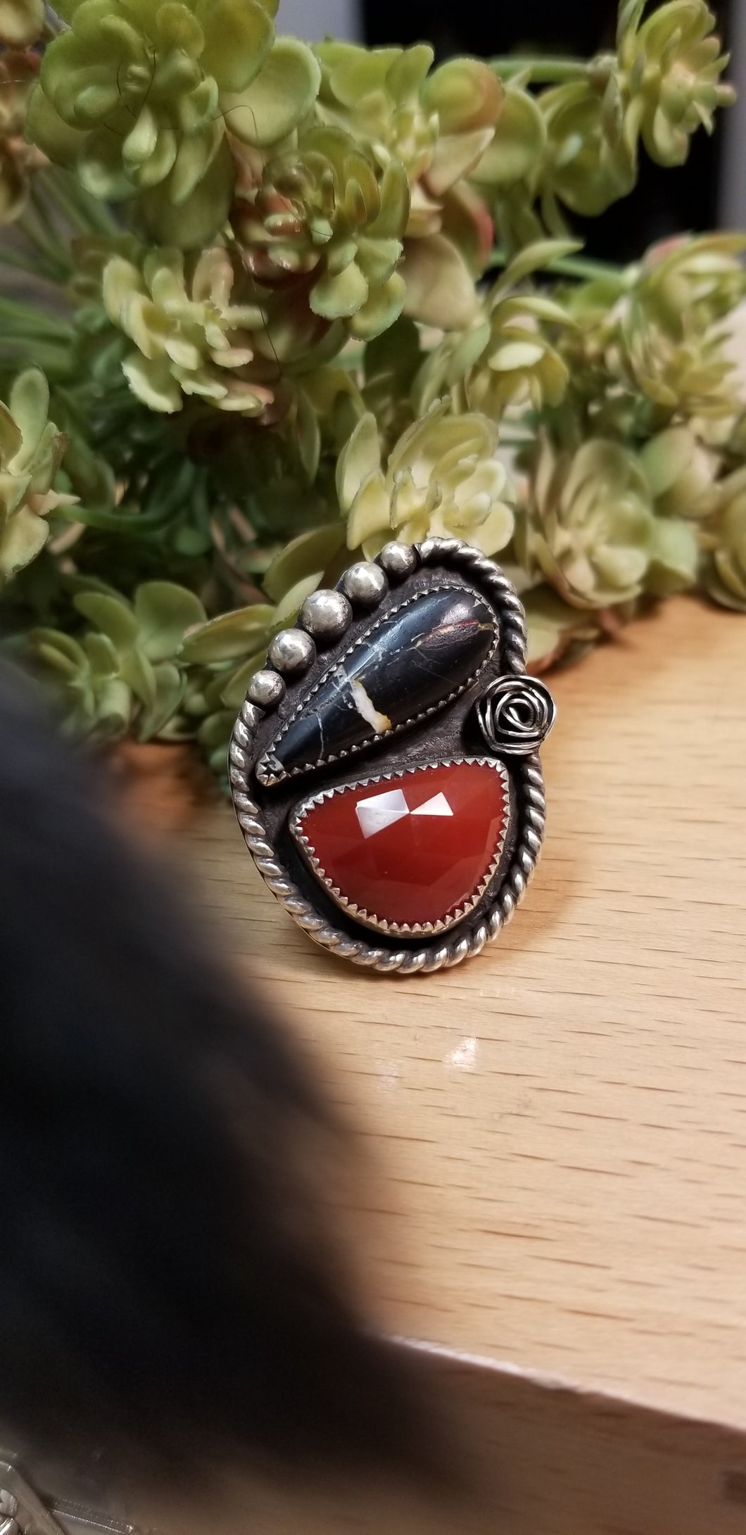 Iron Buffalo and Carnelian