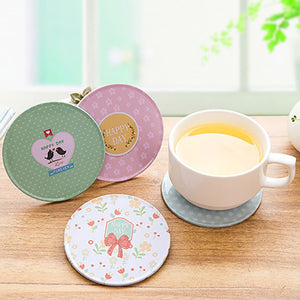 DIHE Fresh Style Tinplate Roundness Coaster Originality
