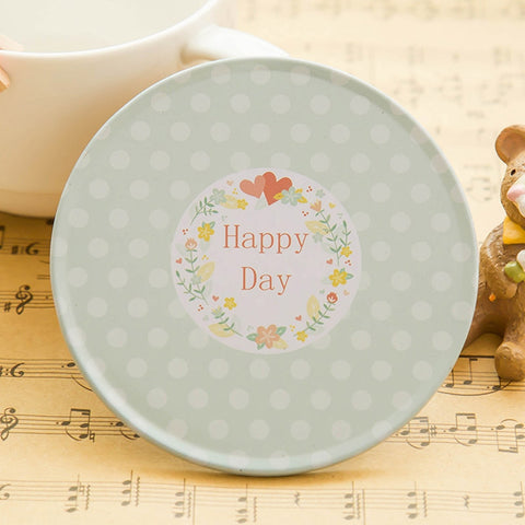 Image of DIHE Fresh Style Tinplate Roundness Coaster Originality