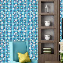 画像をギャラリービューアに読み込む, 10-13 Wall Stickers Removable Mosaic Aluminum Foil Tile