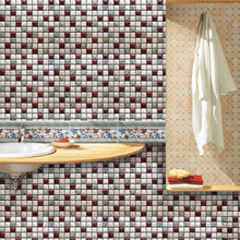 Load image into Gallery viewer, 10-13 Wall Stickers Removable Mosaic Aluminum Foil Tile