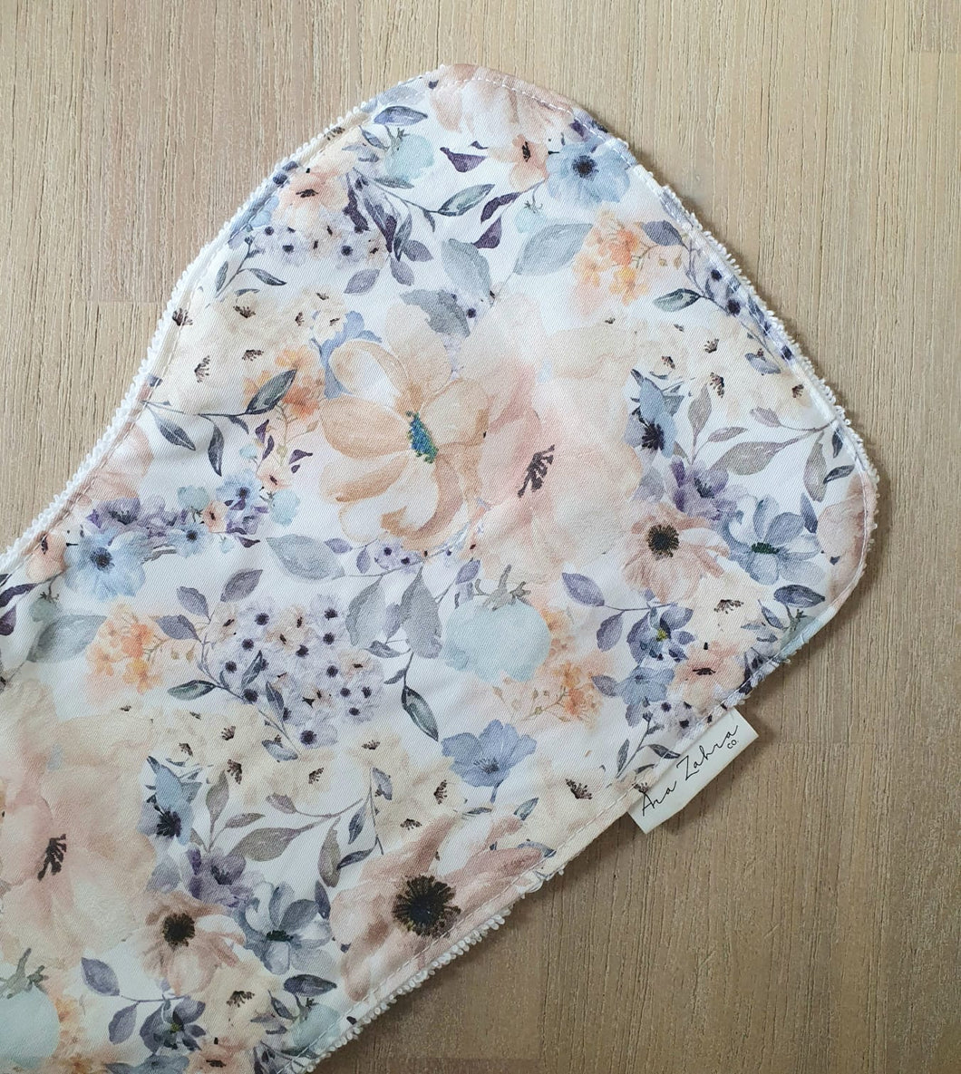 Pastel Flower Burp Cloth