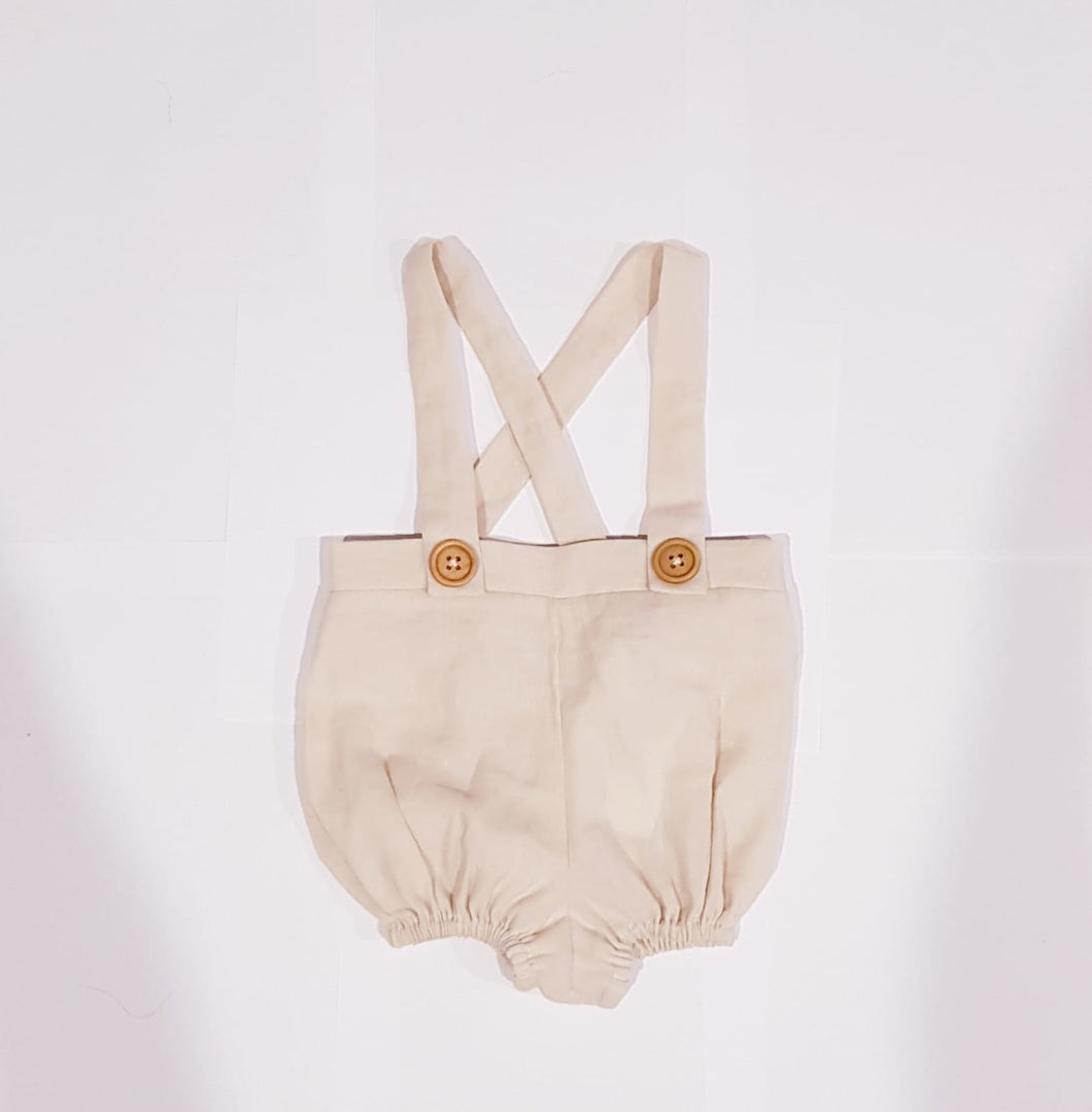 Noah Suspenders Natural Beige