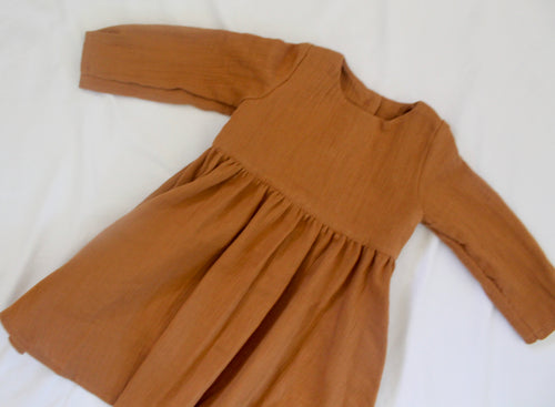 Autumn Delights Dress Mustard