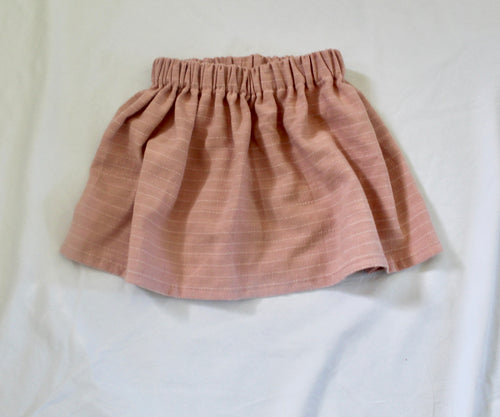Dusty Pink Linen Skirt