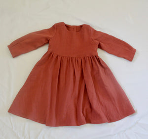 Autumn Delights Dress Burnt Red
