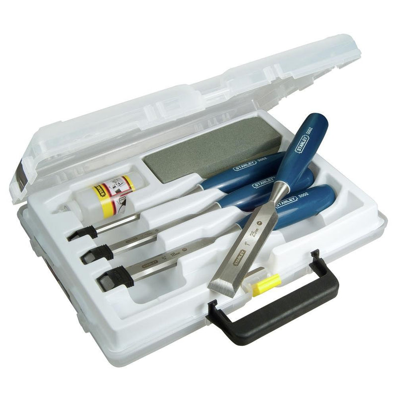 Stanley Wood Chisel 4Pc+Oil&Stone- 6
